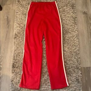 Red Brandy Melville track pants / sweats